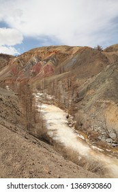 Altai, Russia. Сolorful mountains Kyzyl Chin (Mars 1 and Mars 2)