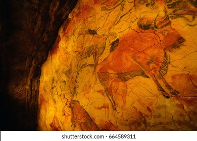 ALTAMIRA, SPAIN -10 JUN 2017- The National Museum and Research Center of Altamira is a museum with replica of the cave of Altamira with its prehistoric rock art. It is a UNESCO World Heritage Site.