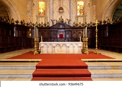 Altar of the Cathedral of Havana, a religious landmark and touristic destination in Cuba