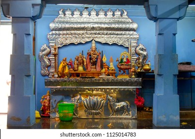 Altar inside Kali Amman Temple in Negombo, Sri Lanka.