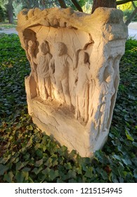 Altar for Jupiter, Juno and Minerva 2 of the Roman road, Publik park Rheinaue, Bonn, Germany