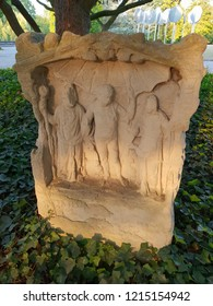 Altar for Jupiter, Juno and Minerva of the Roman road, Publik park Rheinaue, Bonn, Germany