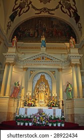 The altar in St. Louis Cathedral in New Orleans, Louisiana Jackson Square.