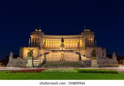 Altare della Patria by night - Rome, Italy