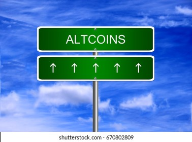 Altcoins cryptocurrency price business mining wallet icon security trading currency exchange.