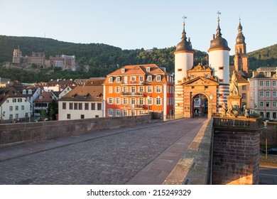 Alte Brucke (Old Bridge) at morning, Heidelberg, Germany