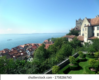 Alte Burg Meersburg view. Alte Burg Meersburg. Ancient castle overlooking Lake Constance