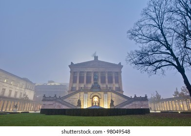 Alte Nationalgalerie (Old National Gallery) located on Museum Island, a UNESCO-designated World Heritage Site on Berlin, Germany
