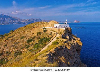 Altea lighthouse Faro del Albir, Costa Blanca in Spain