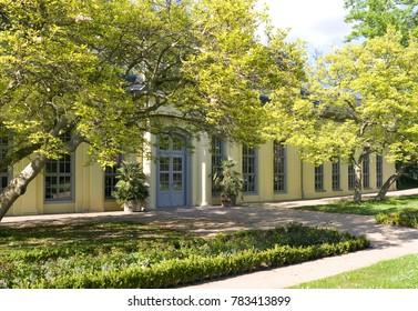 Altenburg / Germany: The baroque orangery in the public castle garden