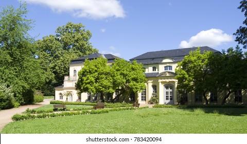Altenburg / Germany: The baroque tea house and orangery in the public castle garden