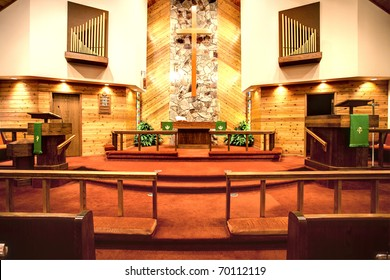 The alter of a church.