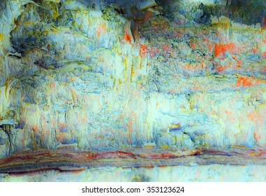 Altered Reality Abstract Art Along the Ridge Landscape