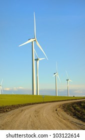 Alternate energy - Wind powered Electrical turbines in Northern California on the Altamont