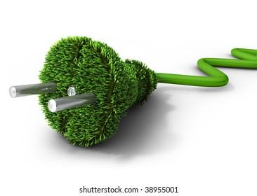 Alternative energy concept (3d illustration)
