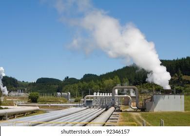 Alternative energy - geothermal power station