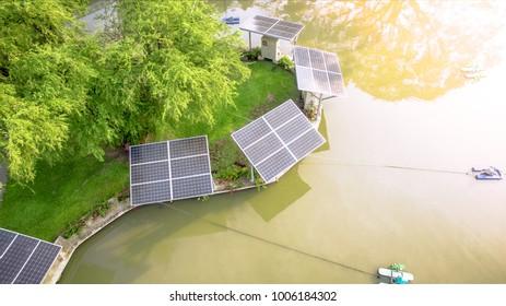Alternative energy nature in park land