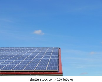 alternative energy photovoltaic solar panels on roof