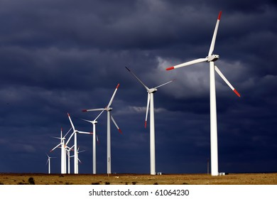 Alternative energy provided by windmills getting the most out of a stormy day