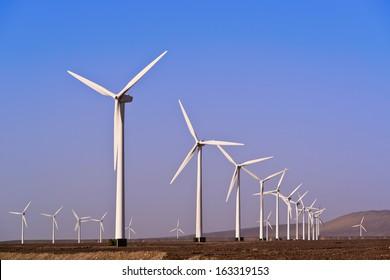 Alternative energy with wind turbine