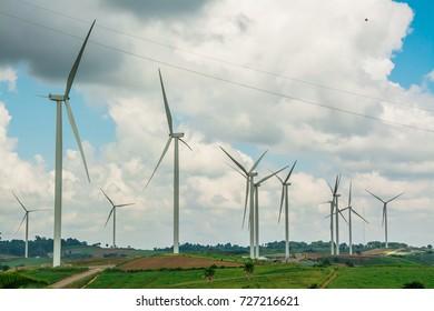 Alternative energy with wind turbine .