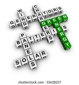 Alternative Green Energy (3D crossword cubes series)