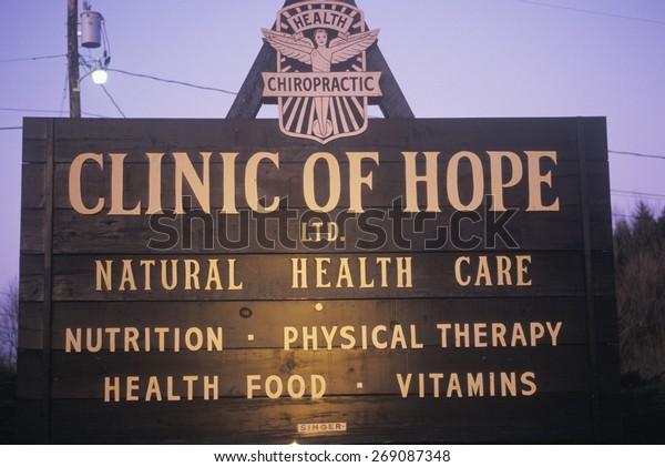 Alternative Healthcare Clinic Sign Stock Photo Edit Now 269087348