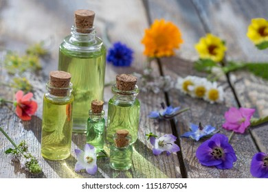 alternative herb medicine. herbal vitamin on white background.