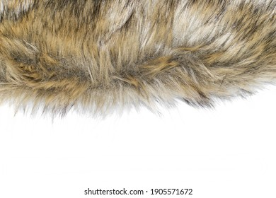 Alternative to natural animal fur. Artificial fur used in the textile industry. Isolated element on a white background