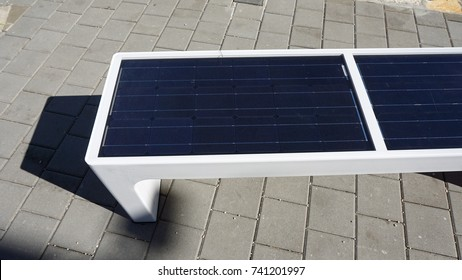 alternative sun power heating a solar bench