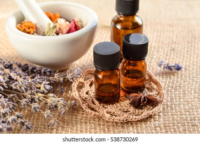 alternative therapy with dried herbs