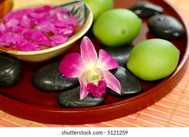 Alternative therapy with floral and green lime