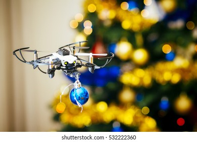 An alternative way to make the Christmas tree. Flying wiht drone