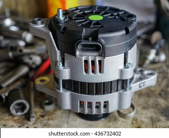 Alternator, charger for an automobile battery.