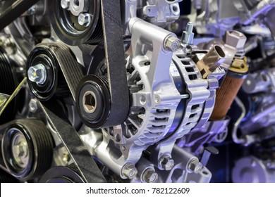 alternator in Diesel Engine ; powertrain
