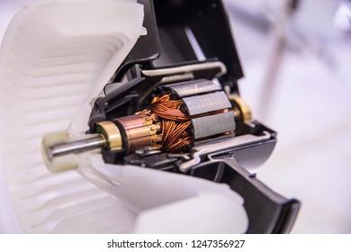 Alternator. Image of car alternator,Sectional view of an automobile generator