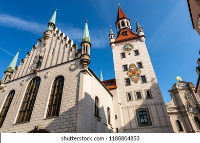 The Altes Rathaus of Munich, Germany (Old Town Hall) until 1874 the domicile of the municipality. It bounds the central Marienplatz square on the east side