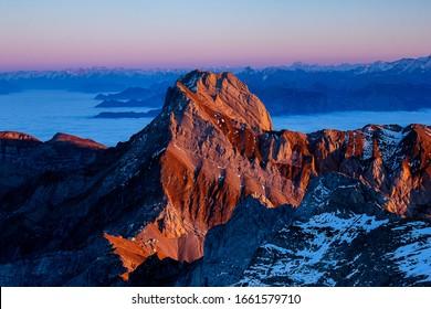 Altmann peak on the Swissalps