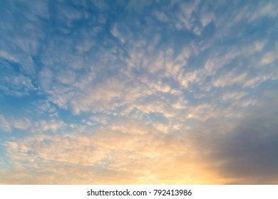 Alto Cumulonimbus at Sunset