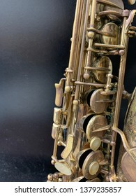 alto Saxophone music wind instrument close up isolated