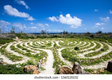 Alto Vista Chapel Labyrinth in Aruba