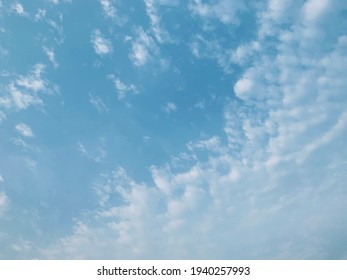 Altocumulus clouds are full of streaks of beautiful usually appear between lower stratus clouds and higher cirrus clouds photographed over at Thailand.no focus