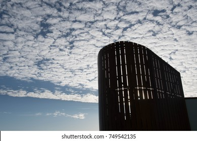 Altocumulus clouds symbols of settled weather