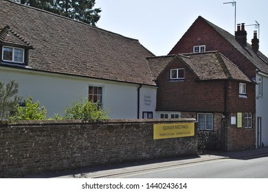 Alton, Hampshire / UK - June 27 2019: Alton Quaker Meeting House is one of the oldest purpose-built Meeting Houses in the world, that is still in use. It was built in 1672.