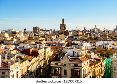 Altstadt von Valencia mit Kathedrale und Micalet, Spanien, old town of Valencia with cathedral and Micalet, Spain