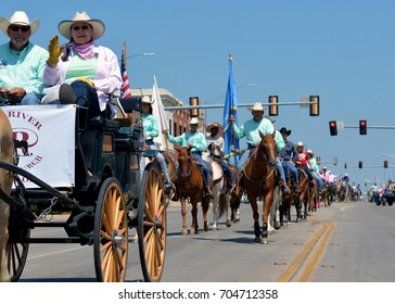 Altus, Oklahoma - August 26, 2017:  40th annual Great Plains Stampede Rodeo Association parade