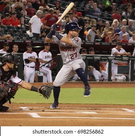 José Altuve 2nd baseman for the Houston Astros at Chase Field in in Phoenix AZ USA August 14,2017.