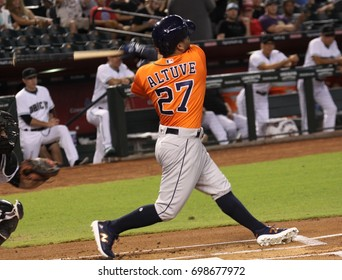 José Altuve 2nd baseman for the Houston Astros at Chase Field in in Phoenix AZ USA August 15,2017.