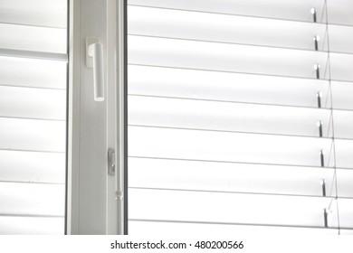 Aluminium blinds indoor background