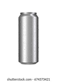 Aluminium can without print, 3d visualization.